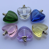 vials - Crystal Vial Jewelry perfume necklace pendant glass vial pendant