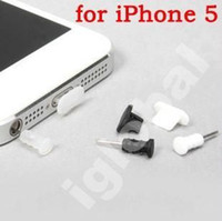 Wholesale dock cover for iPhone G dust plug charger socket earphone jack plug