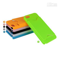 Plastic For Apple iPhone everyday ID Credit Card slot Plastic PC Hard Case Cover for iphone 5 5G 5th case