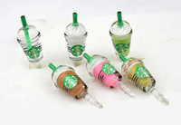 Wholesale Starbucks Coffee Cup Earphone Jack Dustproof Ear Cap Plug Anti dust Stopper for iphone S G pc