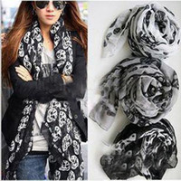 Wholesale new Skull Shape Scarf Shawl Women s Colors Edging European style in