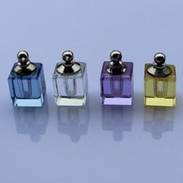Wholesale Perfume glass bottles crystal vial pendant perfume fragrance vial pendant fragrance necklace pendant
