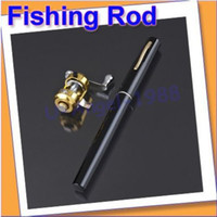 Wholesale New Black Fishing Tackle Pen Rod Pole and Reel Combos