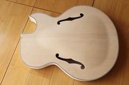Wholesale NEW BRAND PROJECT UNFINISHED JAZZ ELECTRIC GUITAR EBONY BODY