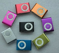 Wholesale gift xmas candy color Metal Clip Mini Clip MP3 Player no screen without memory Free ship dhl