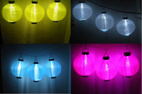 Wholesale Nice christmas set of Solar Power Chinese Lantern Garden LED Light String Lamp Set
