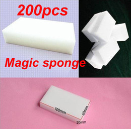 Wholesale 200Pcs Multi functional sponge for Cleaning Magic Sponge Eraser Melamine Cleaner x60x20mm