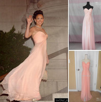 Wholesale 20131010 Sexy Pearl Pink Strapless Sweetheart Chiffon Bridemsiad Dresses Maid in Manhattan Celebrity Dresses
