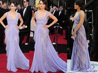 Wholesale 2013 Sexy New Mila Kunis th Oscar Square Purple Red Carpet Lace Celebrity dresses Formal Gown