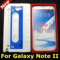cassette case - Cassette Silicone Case For Samsung Galaxy Note N7100 Retro Tape Rubber Case
