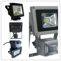 Wholesale DHL W LED Outdoor Flood Light Floodlight PIR Motion Sensor Lighting LM Park Ligh