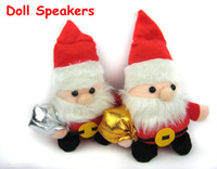 Wholesale Mini Doll Speakers for computer tablet PC cute cartoon Santa Claus dog rabbit bear frog w retail box