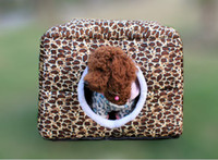 Wholesale Pet dog house multifunction leopard cat house winter warm type dog kennel cat nest