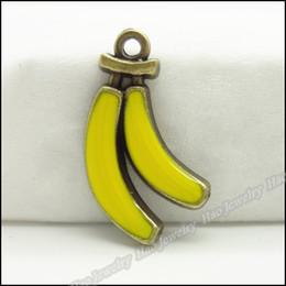 Charm Banana Yellow Pendant Antique bronze Alloy Fit Bracelet & Necklace DIY Metal Jewelry 70pcs lot