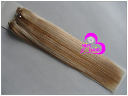 Wholesale 16 quot quot EZ weft hair extension hair weft micro ring weft hair mix color