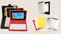 Wholesale 7 quot Clourful PU Leather Case Cover Skin with Keyboard Kit for Tablet PC MID Ainol Novo7