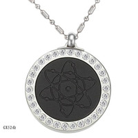 Wholesale Healthy jewelry Quantum Pendants scalar energy necklace pendants color mixed order Rhinestone pc