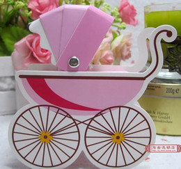 Wholesale Hot sell Wedding Favor Box Bomboniere Baby Shower Baby Day Out Candy Boxes