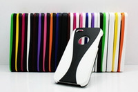 Wholesale Rubber White Bumper piece Goblet Hard Case Cover For iphone G th Hot Sale