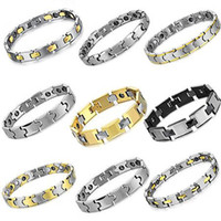Wholesale OPK JEWELRY MIXED ORDER Tungsten Carbide Bracelet with Magnetic Balance Energy Healthy Bangle