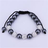 Wholesale Top Charm Disco Ball Bead Paris Crystal Ball Bracelet Handmade Fashion Jewelry XB190