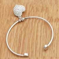 Wholesale Stylish Round Heart Pendant Bangle Stylish Bracelet NEW