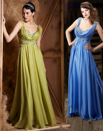 Wholesale Cap Sleeves Sweetheart Light Olive amp Blue Pageant Prom Dress Formal Evening Party Dresses D