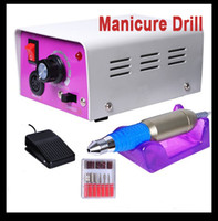 Wholesale Nail Drill Glazing Manicure Electric Tool File Machine Foot Pedal Bit RPM Professional Nail Art