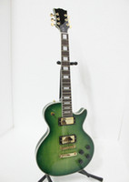 Wholesale new arrival solid body Custom Electric Guitar green high quality