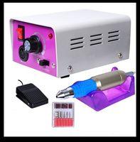 Nail Drill Kit acrylic nail drill - HK Post Nail Drill Complete Electric Nail Drill Kit Set Art File Bit Acrylic Manicure Drill RPM