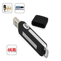 mini recorder recorder  By SG Free shipping 2 in 1 Mini 4GB USB Digital Audio Voice Recorder Dictaphone Flash Drive Disk WA