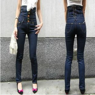 Womens Jeans Stretchy Demin Trousers Skinny Tight Female Pencil ...