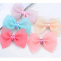 Wholesale Christmas bow Barrette Clips Double silk yarn bow Edge Pressure clamp Sweet Headdress Hair ornaments