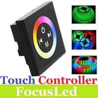Wholesale 2013 Newest Touch Panel Full Color Slippy Dimmer Controller For RGB LED Strip DC12 V