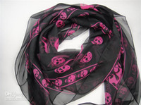 Wholesale 2012 New Arrival Fashion Skull Scarves Shawls Xmas Gift Best Selling FAST