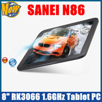 Wholesale SANEI N86 Dual Core G DDR3 GB quot RK3066 GHz WiFi D Webcam Android Tablet PC by China Post