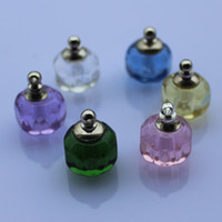 Wholesale Crystal vials perfume sample vials fragrance pendant perfume necklace vials Aroma bottles