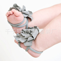 Wholesale Top Baby Baby Girl s Foot Flowers Baby Girl s Flower Foot Accessory Assorted Colors pairs