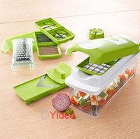 Wholesale 1 set Useful Easy Fruit Vegetable Nicer Dicer Kitchen Tools Cutter Plus Chop Peeler Chopper