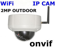 Wholesale 2M Megapixel x1200 HD H IR Night vision Wireless WiFi Outdoor IP Network CCTV Camera ONVIF