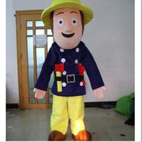 Costum Made adult fireman - 2012 new Professional Fireman Sam Adult Mascot Costume Halloween Cartoon Fancy Dress Suit