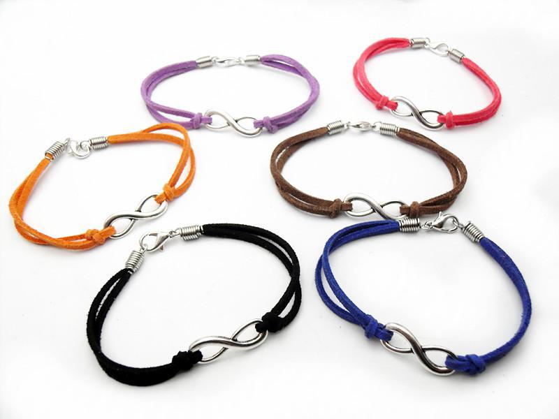 Silver Tone Infinity Sign Digital 8 Charm Jewelry ...