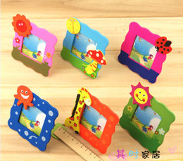 Wholesale Baby Picture Frame Wooden cartoon picture frame mix order