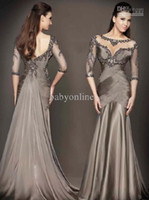 Wholesale 2013 Prom Dresses New Sexy Sheath Sweetheart Long Sleeves Flower Beading Lace Evening Dresses D