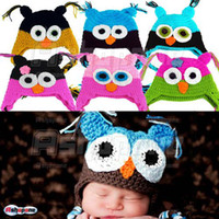 Wholesale 10 New Arrivals Cute Baby Boy Girl Toddler Owls Knit Crochet Hat Beanie Cap
