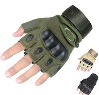 Wholesale 100 pairs Outdoor Sports Fingerless Airsoft Hunting Cycling Bike Gloves