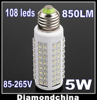Wholesale Fast delivery E27 W LM led bulb corn light Epistar leds angle AC110V V DC12V V E14