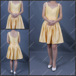 Wholesale ST069 Party Dress Straps Knee Length Simple Design New Style Dress With A Low Price