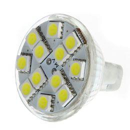 Gu4 conduit en Ligne-MR11 GU4 120-144LM Ampoule 12 LED SMD 5050 blanc chaud / blanc d'économie d'énergie lampe LED projecteur H9157