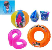 Wholesale Baby Swimming suit Inflatable swimming ring Arm ring Ball set Swimming products suit sets